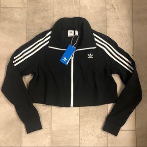 Black Adidas Cropped Track Jacket